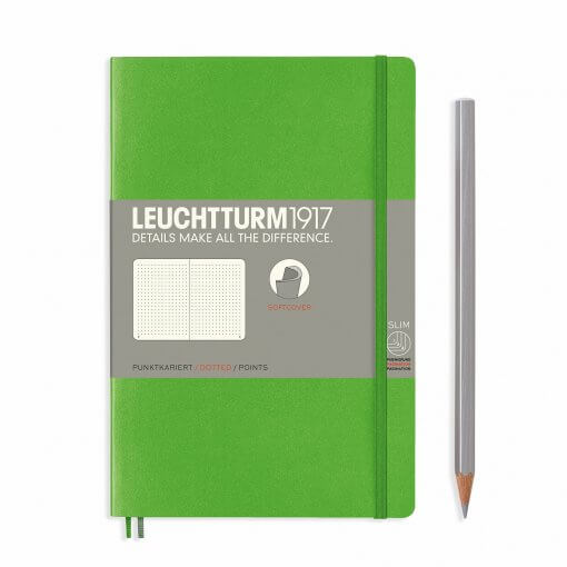 Leuchtturm1917-notitieboek-softcover-b6-dotted-fresh-green