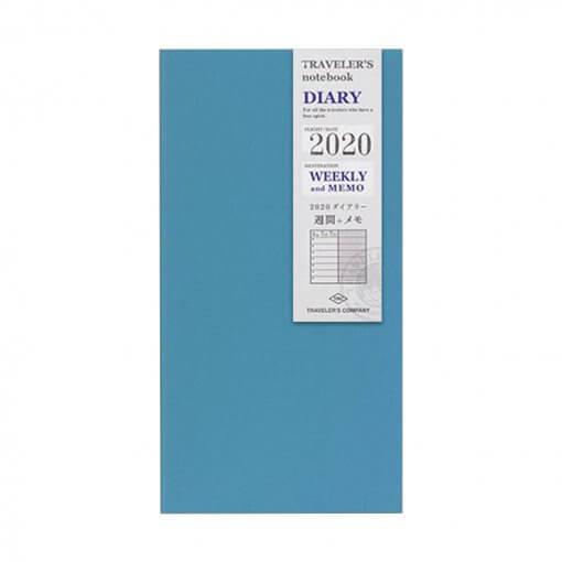 Midori Traveler's Notebook navulling diary weekly + memo 2020