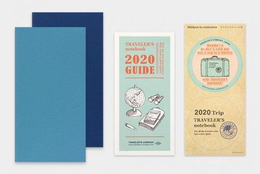 Midori Traveler's Notebook navulling diary weekly + memo 2020 1