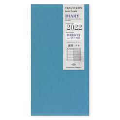 Midori Traveler's Notebook navulling diary weekly + memo 2022