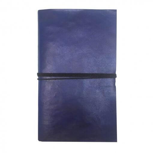 Blauw-leren-notitieboek