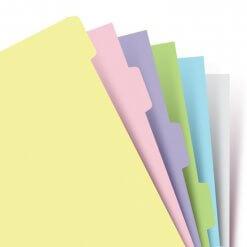 Filofax-organizer-A5-pastel-tabbladen