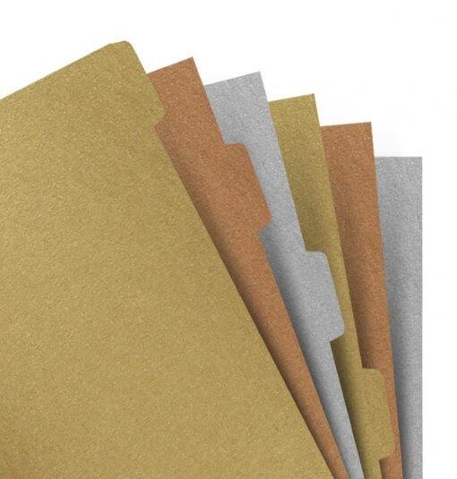 Filofax-organizer-personal-metallic-tabbladen-