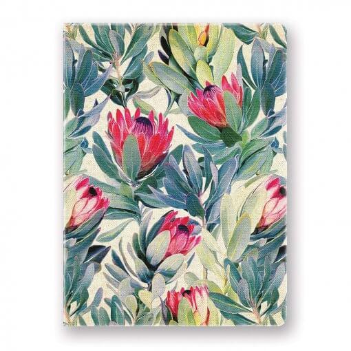 Studio-Oh-bloemen-notitieboek-canvas-Protea
