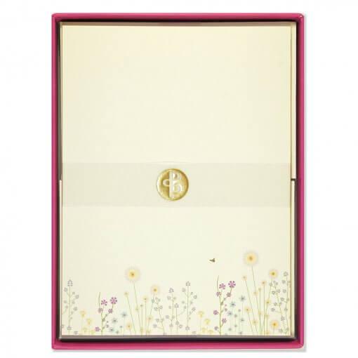 Briefpapier-sprankelende-bloemen-verpakking