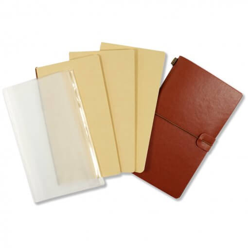 Travelers-notebook-bruin-set