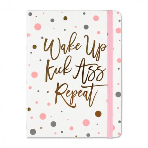 Peter-Pauper-Notitieboek-Wake-up-kick-ass-repeat