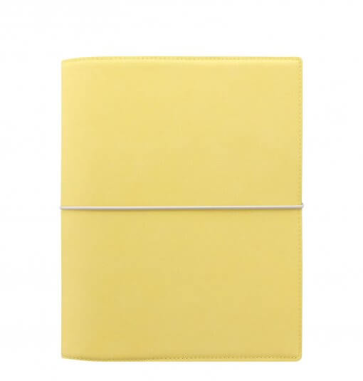 Filofax-organizer-domino-soft-A5-lemon