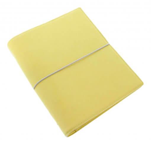 Filofax-organizer-domino-soft-A5-Lemon-schuin