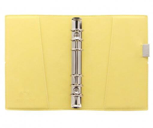 Filofax-organizer-domino-soft-personal-lemon-open
