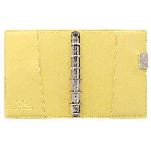 Filofax-domino-soft-organizer-pocket-lemon-open