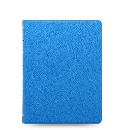 Filofax-notitieboek-Saffiano-fluor-blue-A5