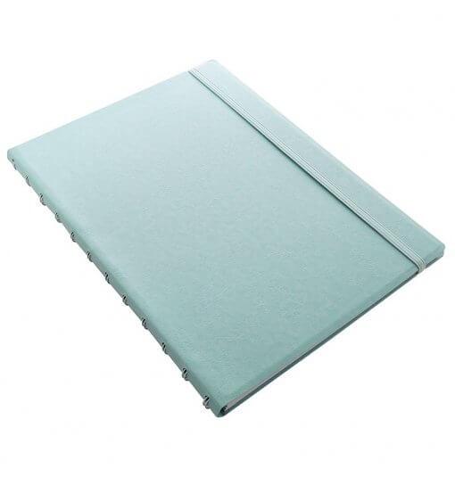 Filofax-notitieboek-classic-pastel-duck-egg-A4-schuin