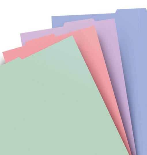 Filofax-tabbladen-pastel-A4