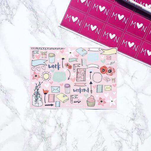 Stationery-box-sticker