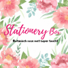 Stationery box botanisch roze