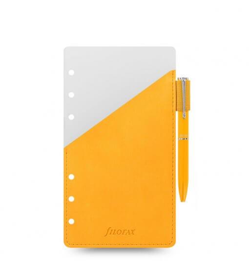 Filofax-navulling-organizer-personal-pen-holder-geel