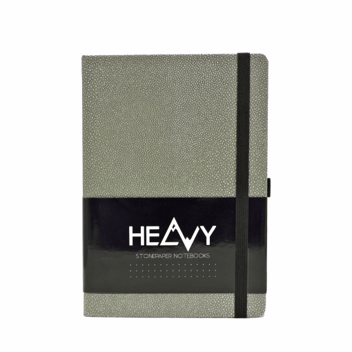 Heavy-Stonepaper-Notebook-Silver-Front