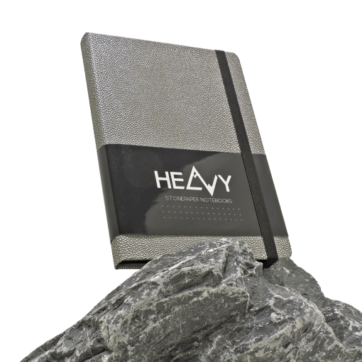 Heavy-Stonepaper-Notebook-Silver-Rock-vrij