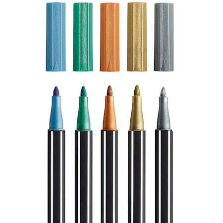 Stabilo-Pen-68-Metallic-Viltstift-Etui-6-stuks-3