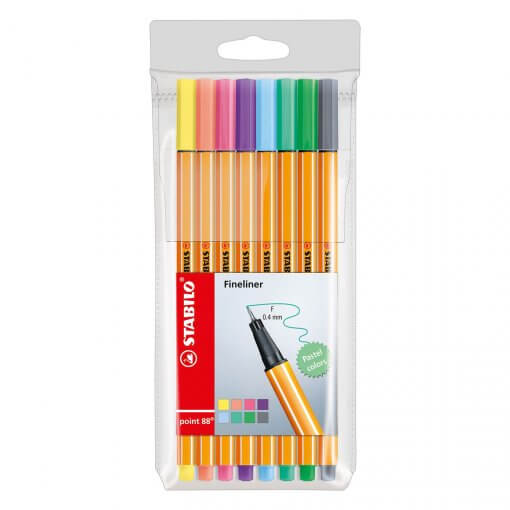 Stabilo-Point-88-Pastel-Etui-8-kleuren