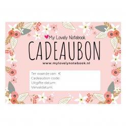 My Lovely Notebook Cadeaubon