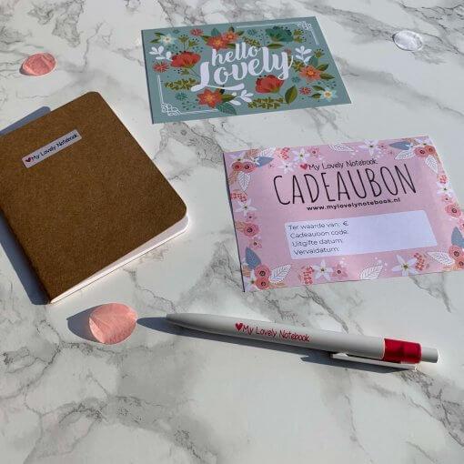 Cadeaubon My Lovely Notebook