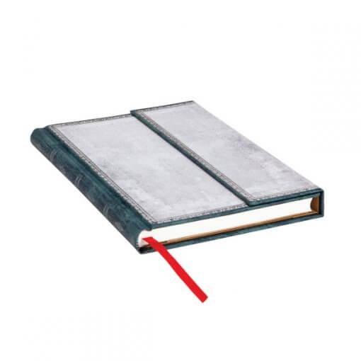 Paperblanks notitieboek Old leather Flint midi liggend