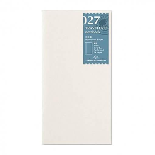 027 Midori travelers notebook navulling Aquarel papier