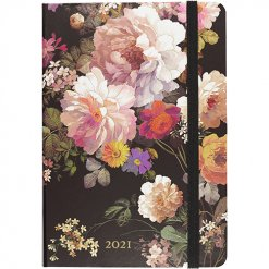 Peter Pauper Agenda 2021 Midnight Floral