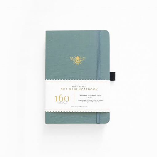 Archer & Olive Notebook Dot Grid - Vintage Bee