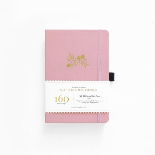 Archer and Olive Notebook Dot Grid - Light Pink