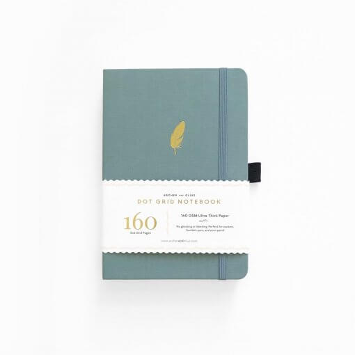 Archer and Olive Notebook Dot Grid - Floating Feather