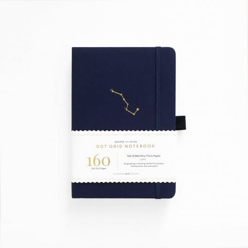 Archer and Olive Notebook Dot Grid - Night Sky