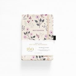 Archer and Olive Notebook Dot Grid - Painted Flower
