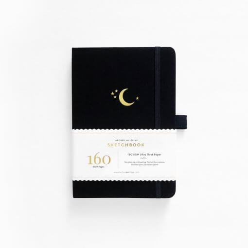 Archer and Olive Schetsboek Blanco - Crescent Moon