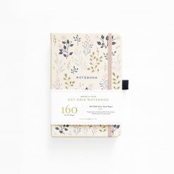 Archer and Olive Notitieboek Dot Grid - Pink Flower