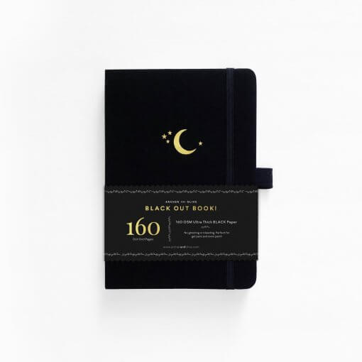 Archer and Olive The Blackout Book Dot Grid - Crescent Moon 5
