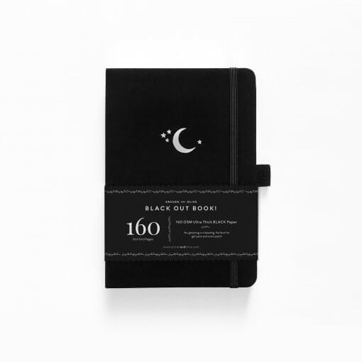 Archer and Olive The Blackout Book Dot Grid - Silver Crescent