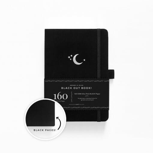 Archer and Olive The Blackout Book Dot Grid - Silver Crescent 1