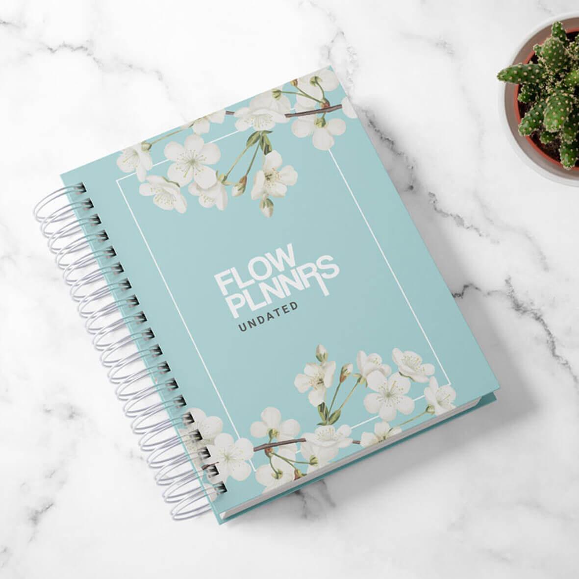 Flow Planner - Mint Floral