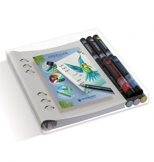 Filofax Clipbook A5 Notebook & Chameleon Pens Bundle 1