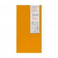 Midori Traveler's Notebook navulling diary weekly Vertical 2020