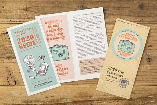 Midori Traveler's Notebook navulling diary weekly Vertical 2020 1 2
