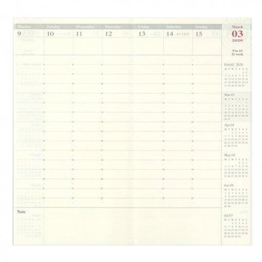 Midori Traveler's Notebook navulling diary weekly Vertical 2020 3