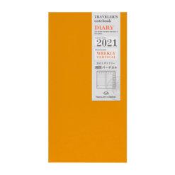 Midori Traveler's Notebook navulling diary weekly Vertical 2021