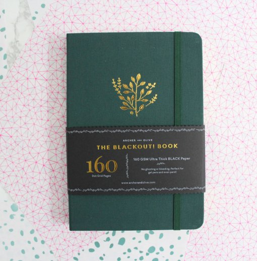 Archer and Olive The Blackout Book Dot Grid - Deep green