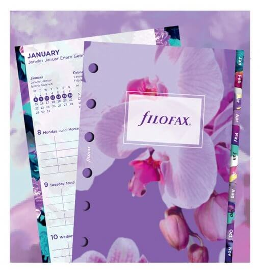 Filofax navulling Organizer Pocket Floral Diary 2020