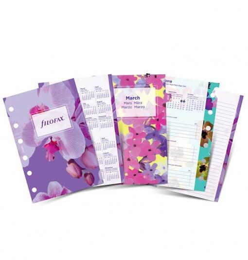 Filofax navulling Organizer Pocket Floral Diary 2020 1