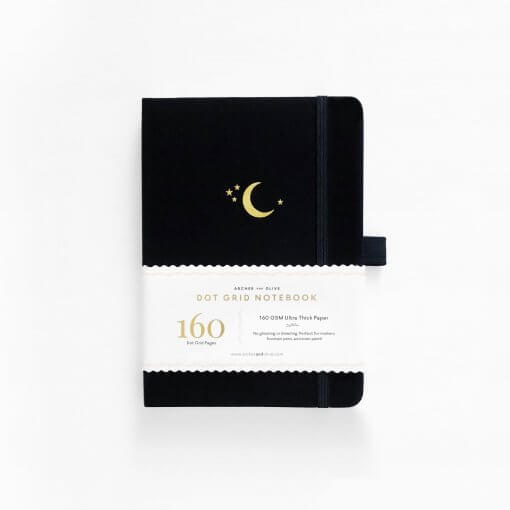 Archer and Olive Notitieboek B5 Dot Grid - Crescent Moon